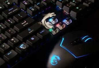 电竞利器 RGB键鼠套装 微星GK50机械键盘+GM20鼠标
