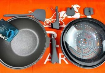 【金测评】帝伯朗菲尼雅浮雕钛钻多用不粘锅:轻松搞定煎炒蒸炸煮烤涮炖