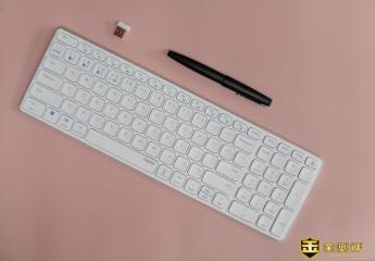 【金测评】雷柏E9350G刀锋键盘体验:4台设备轻松切换,手机平板也能用